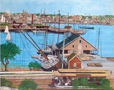 Painting - East Gloucester Trolley by Laurence Dahlmer