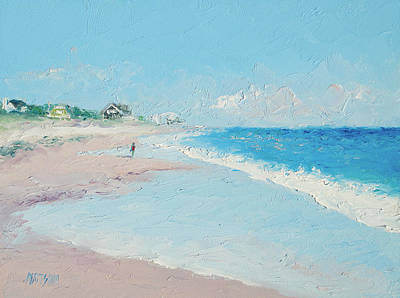 East Hampton Beach Art Print by Jan Matson