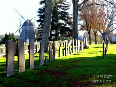 Digital Art - East Hampton Cemetery by Ed Weidman