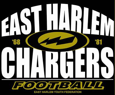 Harlem Digital Art - East Harlem Chargers Football by Timur Bey