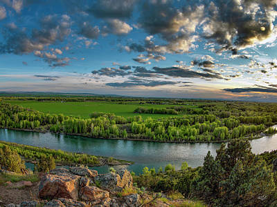 Photograph - East Idaho Snake River by Leland D Howard