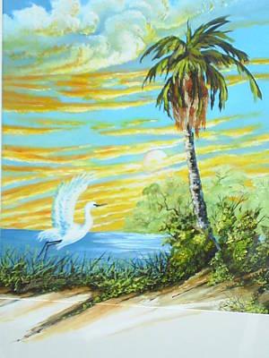 East Lake Art Print by Dennis Vebert