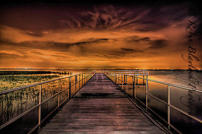 Photograph - East Lake Pier Topaz by Robin Blaylock