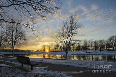 Photograph - East Lake Winter Sunset by Tamara Becker