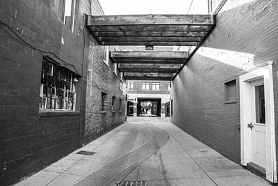 Photograph - East Lansing Alley Black And White  by John McGraw