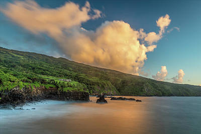 Photograph - East Maui Coastline At Sunrise by Pierre Leclerc Photography