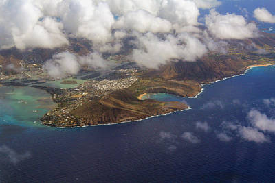 East Oahu From The Air Art Print