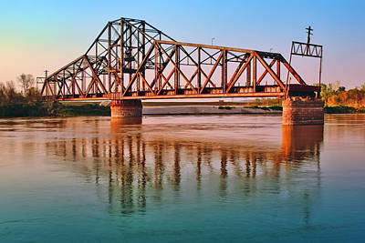 Photograph - East Omaha Bridge by Nikolyn McDonald