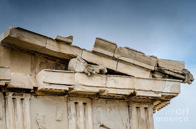 Photograph - East Pediment - Parthenon by Debra Martz