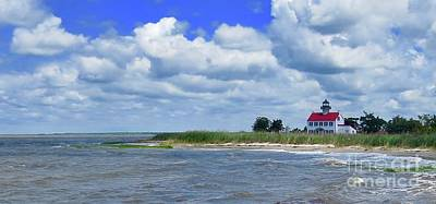 Photograph - East Point Lighthouse At High Tide by Nancy Patterson