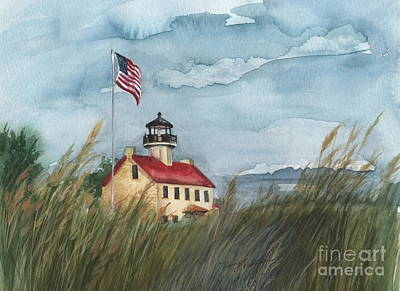 Painting - East Point Lighthouse by Nancy Patterson