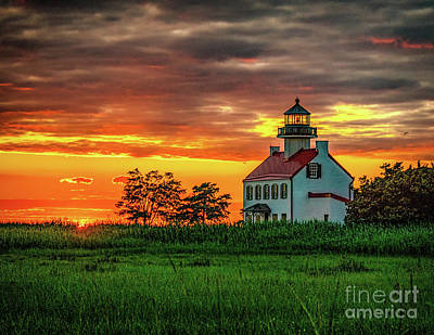 Photograph - East Point Lighthouse Sunset by Nick Zelinsky