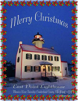 Photograph - East Point Merry Christmas  by Nancy Patterson