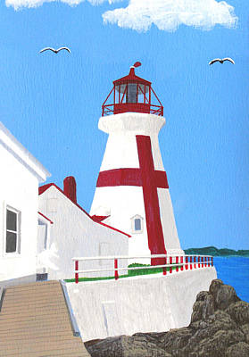 Painting - East Quaddy Head Lighthouse Painting by Frederic Kohli
