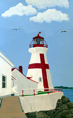 East Quoddy Lighthouse Painting - East Quoddy Head Lighthouse by Frederic Kohli