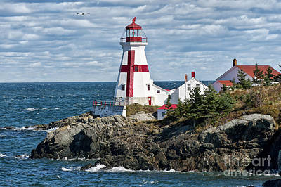 Coastal Maine Photograph - East Quoddy Lighthouse by John Greim