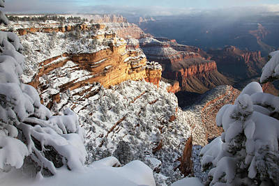 Grand Canyon Photograph - East Rim Snowscape by Mike Buchheit