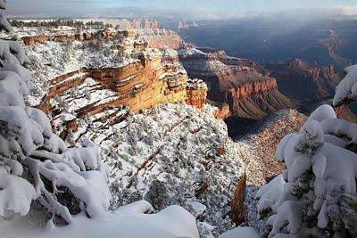 Four Corners Photograph - East Rim Snowscape by Mike Buchheit
