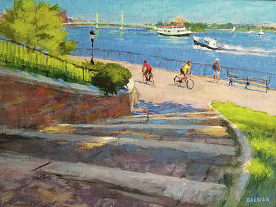 Painting - East River From Carl Schurz Park by Peter Salwen