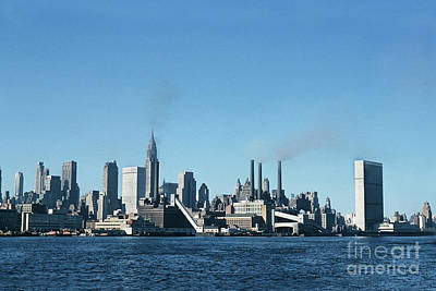 Photograph - East River, New York City Oct. 11, 1957 by California Views Archives Mr Pat Hathaway Archives