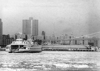 East River Piers Are Endangered By The Oil Slick Caused By The Wreck Of The Empress Bay. 1977 Art Print by Barney Stein
