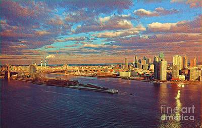 Photograph - East River Sunset by Miriam Danar