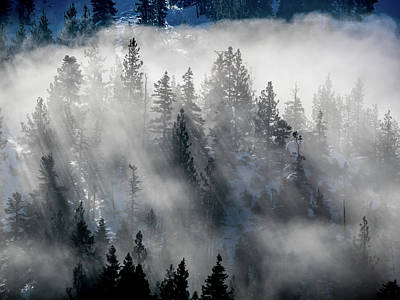 East Shore Inversion, Lake Tahoe Art Print
