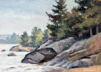 Painting - East Shore Surf'n Turf by Larry Seiler