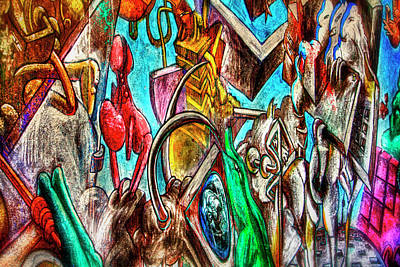 Euphoria Photograph - East Side Gallery by Joan Carroll