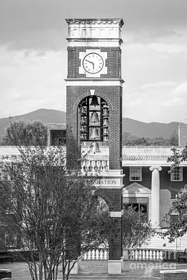 East Tennessee State University Bell Tower Art Print by University Icons