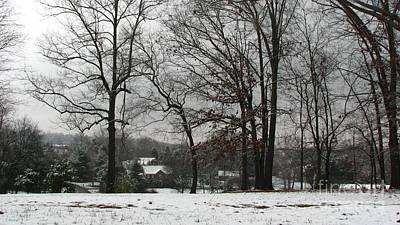 East Tennessee Winter Print by Todd A Blanchard