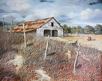 East Texas Barn Art Print by Bob Hallmark