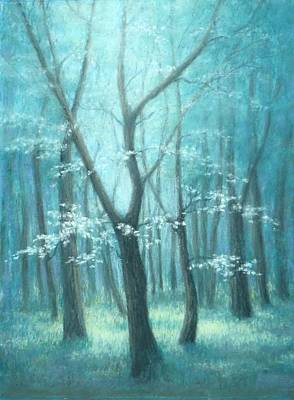 East Texas Dogwood Tree Art Print by Pat Neely