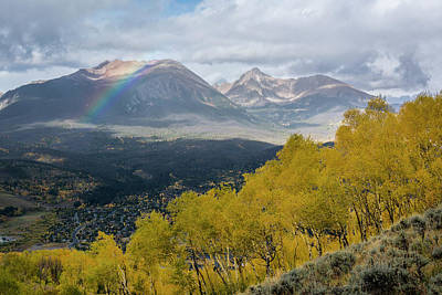 Photograph - East Thorn Rainbow by Aaron Spong