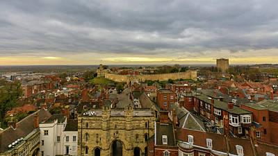 Photograph - East View Of Lincoln, England by Jacek Wojnarowski