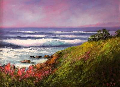 Cambria Painting - East West Ranch   Cambria by Sally Seago
