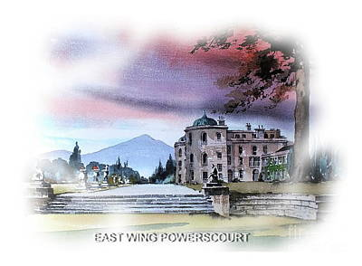 Painting - East Wing Powerscourt by Val Byrne