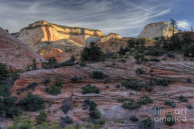 Photograph - East Zion Canyon Sunrise by Sandra Bronstein
