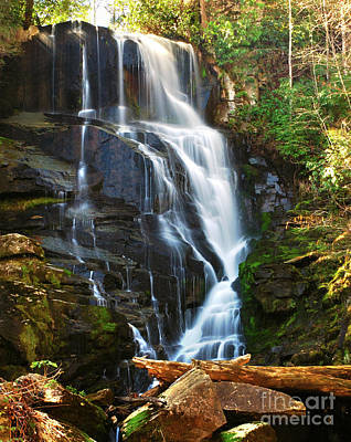 Photograph - Eastatoe Falls North Carolina - Waterfall Water Fall Landscape by Jon Holiday
