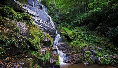 Eastatoe Falls - Waterfalls In North Carolina Photos Art Print by Matt Plyler