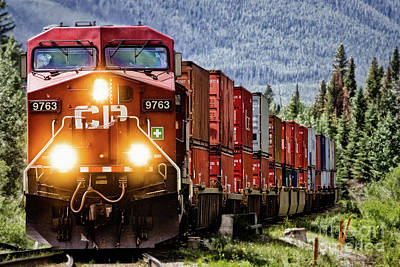 Dash 9 Photograph - Eastbound Double Stack by Brad Allen Fine Art
