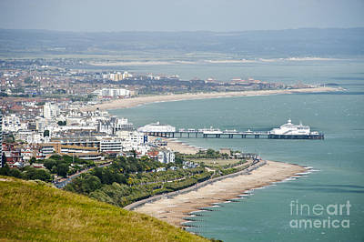 Eastbourne From Beachy Head Sussex Uk Art Print by Donald Davis