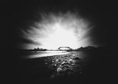 Photograph - Eastbourne Pier, Vhs Case Pinhole Photograph by Will Gudgeon