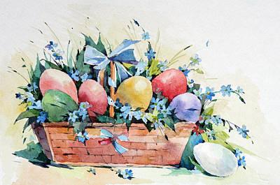 Painting - Easter Basket by Natalia Eremeyeva Duarte