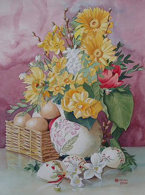 Painting - Easter Bouqet by Charles Hetenyi