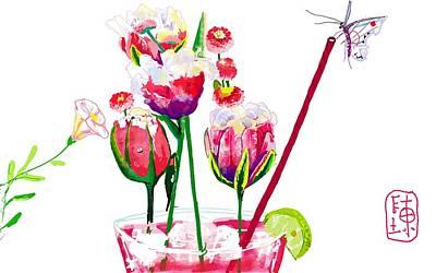 Digital Art - Easter Bouquet by Debbi Saccomanno Chan