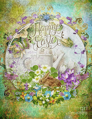 Happy Easter Mixed Media - Easter Breakfast by Mo T