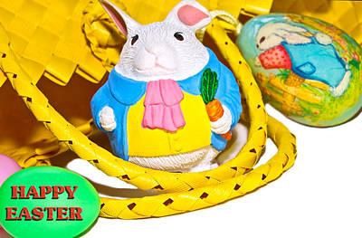 Photograph - Easter Bunnies And Baskets by Susan Leggett