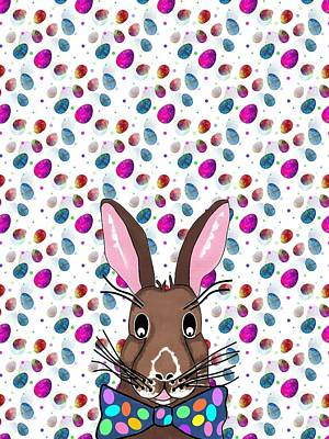Mixed Media - Easter Bunny Easter Eggs by Kathleen Sartoris