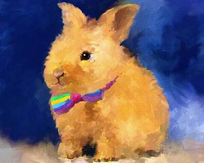 Painting - Easter Bunny by Jai Johnson